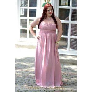 Nagyméretű gyöngyös muszlin maxi ruha kép