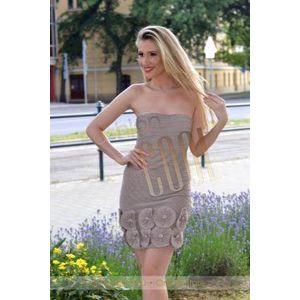 Barna plisszirozott ruha kép