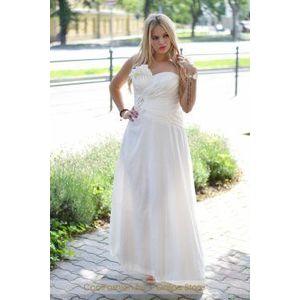 Fehér köves taft menyasszonyi ruha kép