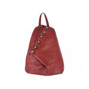 Michal Negrin Piros asszimmetrikus háti táska szegecsekkel kép