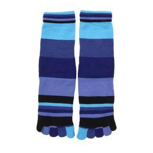 HDI csíkos pamut lábtyű - kék kép