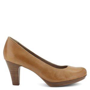 Tamaris magas sarkú bőr cipő kép