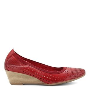 Marco Tozzi teletalpú női bőr cipő kép