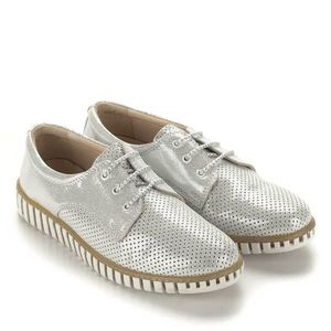 Anna Viotti ezüst fűzős cipő kép