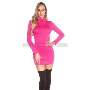 Miniruha hátán nyitott, garbós - pink - catwalker kép