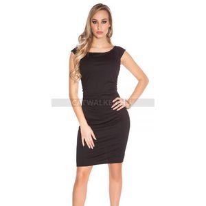 Nyári ruha egyszínű - fekete kép