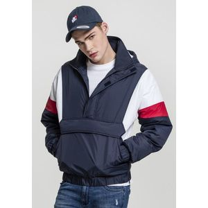 Urban Classics 3 Tone Pull Over Jacket navy/white/fire red kép