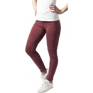 Urban Classics Ladies Denim Jersey Leggings burgundy kép