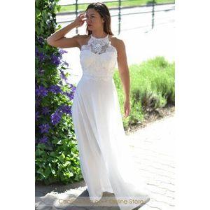 női fehér maxi ruha kép