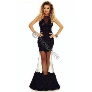 Fekete csipkés sellő maxi ruha kép