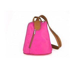 Michal Negrin Fukszia/barna olasz bőr háti táska kép