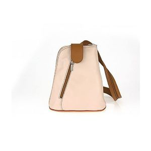 Michal Negrin Rózsaszín/barna olasz bőr háti táska kép
