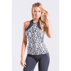 Indi-go Zebra fitness trikó, fekete-fehér 'M' kép