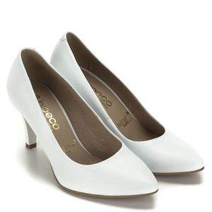 Magassarkú fehér Bioeco cipő kép