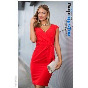 Betty piros vászon ruha kép
