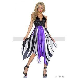 Alkalmi ruha, hosszú szatén különleges lilás - catwalker kép