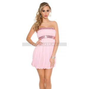 Alkalmi ruha flitteres - rózsaszín - catwalker kép