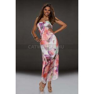 Maxi ruha, nyári, sifon, virágos - catwalker kép