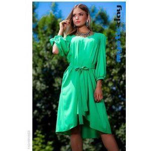 Szofi A vonalú zöld ruha kép