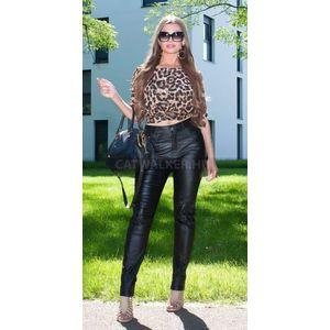 Női nadrág, bőrhatású - 38782 - fekete - catwalker kép