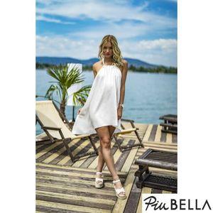 Paris White - Fehér hát nélküli ruha, nyakánál megkötővel kép