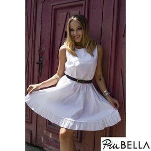 9dcf2cca0c Windy White - Fehér ujjatlan nyári ruha alján fodorral (47 db ...