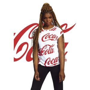Mr. Tee Ladies Coca Cola AOP Tee white kép