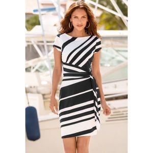 Fekete-fehér csíkos ruha kép