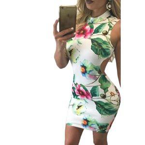 Virágos nyitott hátú ruha kép