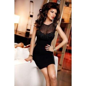 Fekete ruha áttetsző hátrésszel kép