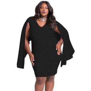 Fekete stóla díszítéses plus size ruha kép