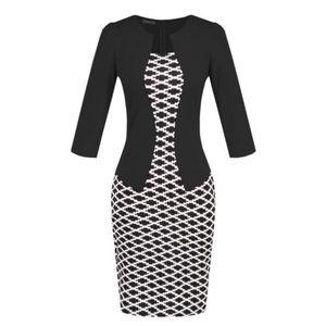 Fekete-fehér elegáns ruha kép