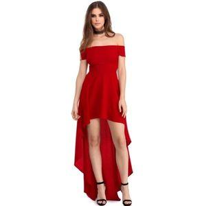 Piros alkalmi hátul hosszított ruha (46 db) - Divatod.hu 986eb95635