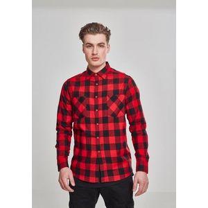 Urban Classics Checked Flanell Shirt blk/red kép