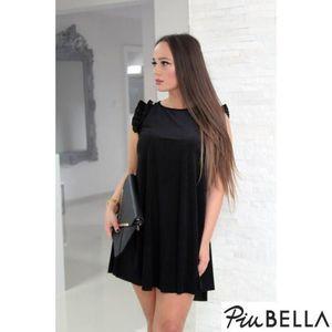 Alice Dress Black - Fekete, A-vonalú bársony ruha kép