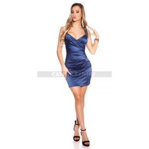 Alkalmi ruha szatén vállán gyöngyös kék (36 db) - Divatod.hu 2740cc0ac4