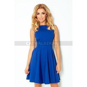 Alkalmi ruha, női, bő aljjal - kék - NO 125-4 - catwalker kép