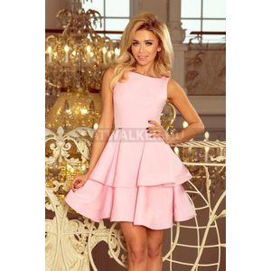 4d30259172 Alkalmi ruha, női, alján dupla fodros - rózsaszín - NO 169-5 - catwalker