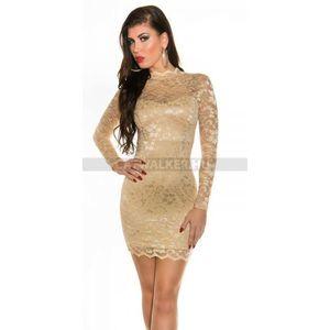 Alkalmi ruha, csipke K18309 - pezsgő - catwalker kép