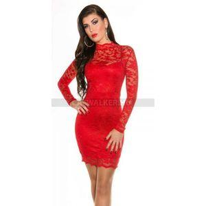 Alkalmi ruha, csipke K18309 - piros - catwalker kép