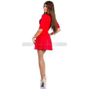 Nyári ruha, bő aljjal - 39043 - piros színben - catwalker kép
