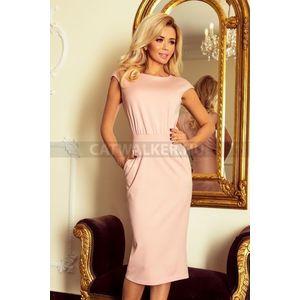 Nyári ruha, elegáns, női - rózsaszín - NO 144-6 - catwalker kép