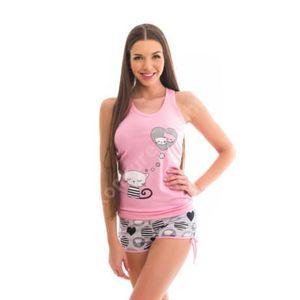 mintás pamut pizsama kép