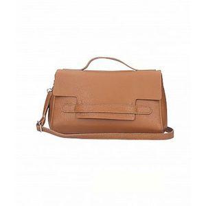 Michal Negrin Fekvő fazonú barna kézi táska kép