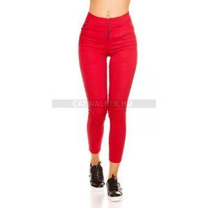 Leggings thermo hatású, gombbal - piros - catwalker kép