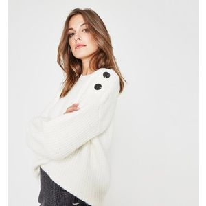 Promod gombos vállú pulóver kép