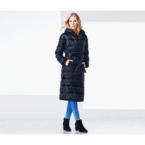hosszú steppelt női kabát kép