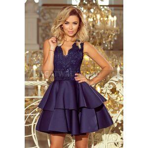 Alkalmi ruha álom szép, rövid, kék - catwalker kép