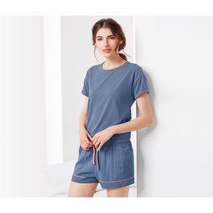 Tchibo női rövidnadrágos pizsama kék. Jönnek az akciós árak 88a56a78de