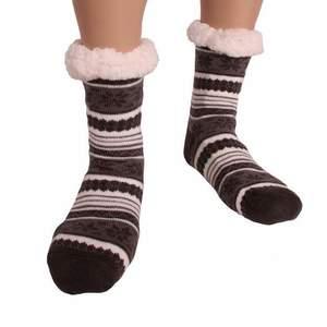HDI norvégmintás férfi mamusz zokni - sötétszürke kép